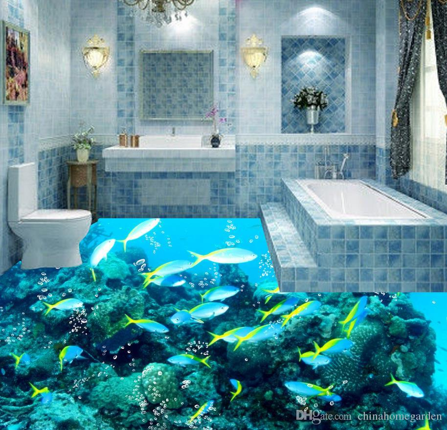 Photo Customize Size 3D Ocean Tropical Fish Water Pattern