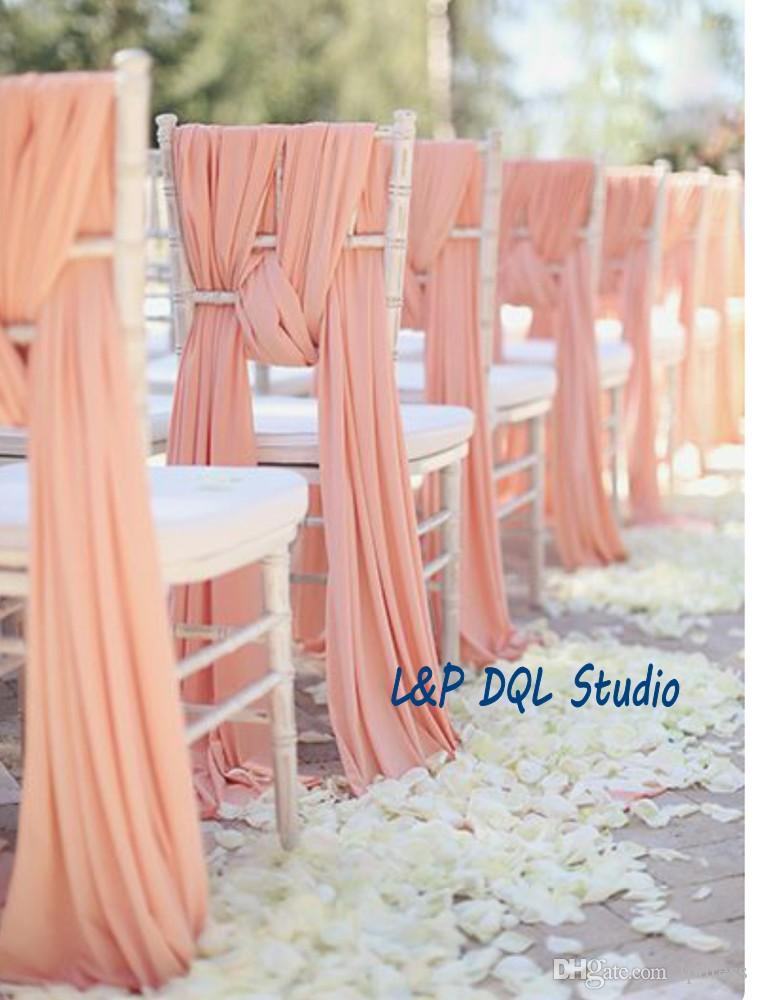 chair accessories for weddings swing benefits top quality wedding sashes peal pink chiffon 2mx0 5m long suppliers
