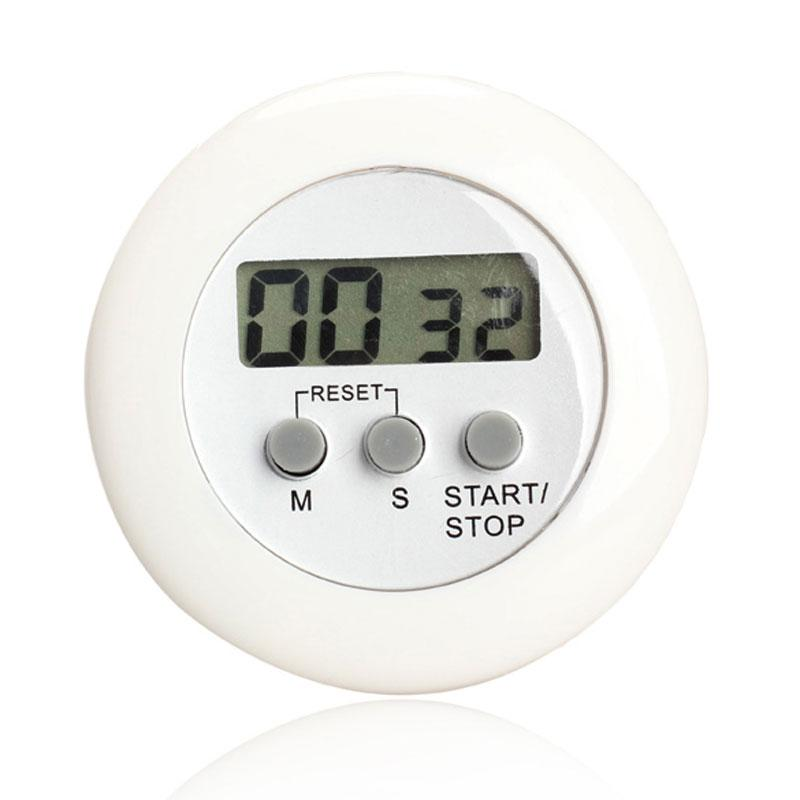 digital kitchen timers best flooring round magnetic lcd countdown timer alarm with stand white practical cooking clock