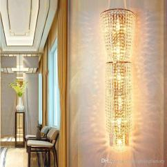 Wall Lamps Living Room Light Brown Decor 2019 Decorative Crystal Lamp Mounted Sconce Bedside Led Lights Hotel Lobby Banquet Hall Market Bedroom From