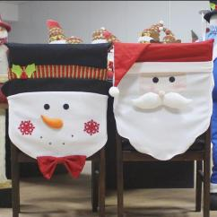 Christmas Chair Covers White Kohls Rocking Cushions Decorations Santa Claus Snowman Cover Party Hotel Restaurant Holiday Arrangement Set