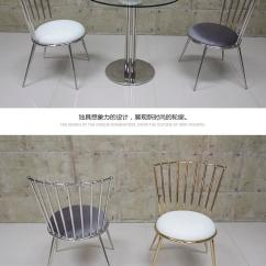 Steel Chair Dining Table Lawn Chairs Folding 2019 Customized Stainless For Modern House Nordic Europe Fast Shipping