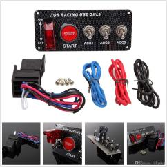 Ignition Switch Deutsch Norcold Fridge Wiring Diagram Carbon Fiber Race Car Accessory Engine Start Push Button High Quality Face Plate 1 On Off Redc Toggle X Red 3 Switches For Additional Use Come With The Relay To