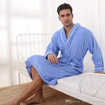 Men Wearing Towels Bath Robes