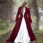 Velvet Long Sleeve Wedding Dress