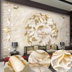Tv Sofa Decorative Throw Pillows For New Custom 3d Beautiful Lotus Pattern Marble Relief Background Wall Mural Wallpaper Papers Backdrop Canada 2019 From