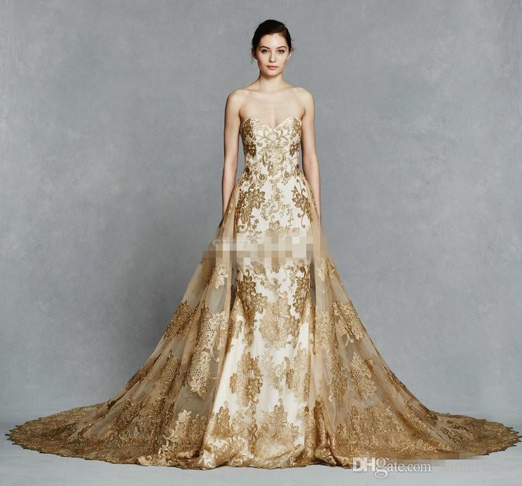 gold color embroidery train