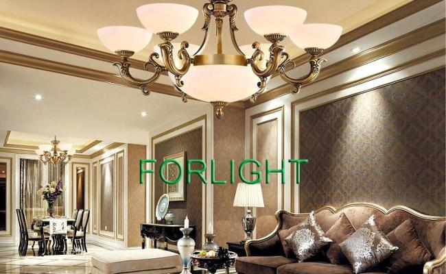 Copper Marble Chandeliers High End Luxury Noble American