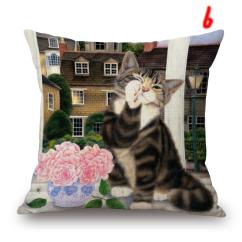 Sofa Dry Cleaning Cost Set Informa Little Black Cats Cushion Covers Colour Painting Cat And ...