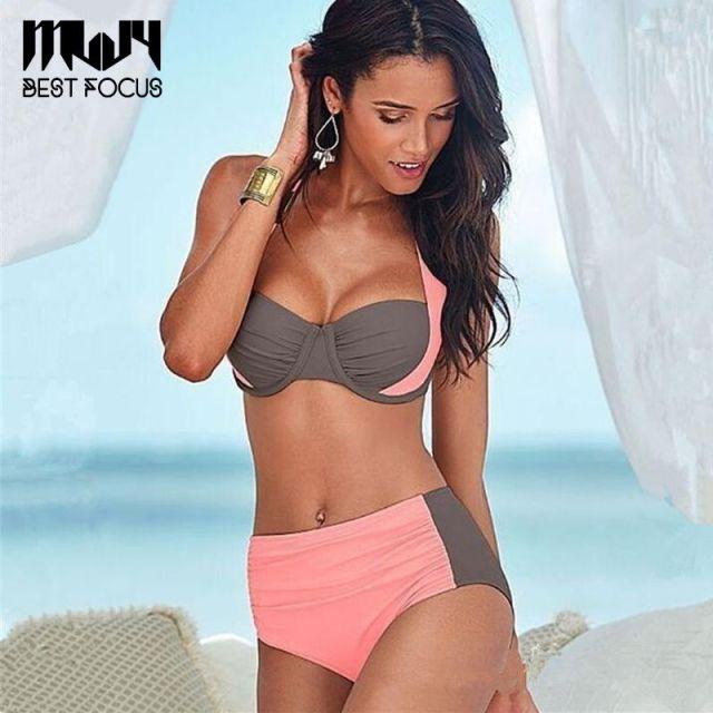 Color Brownwhiteblackpinkblue Sizes M L Xlxxl Sales Model Mix Order Material Polyester Quantity 1 Items Per Lot Mljy Hot Girls Sexy Bikinis