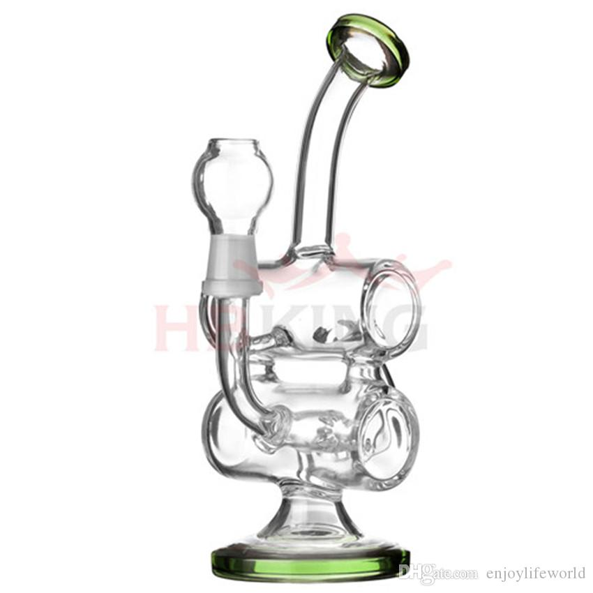 2019 K66 Baby Double Barrel Recycler Vapor Rig Bongs Water