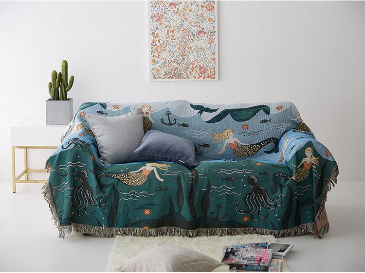 mermaid sofa throw blanket