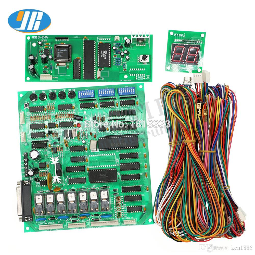 hight resolution of diy crane machine kit parts good quality guanxing pcb board crane machine pcb with wire harness arcade gift doll machine board