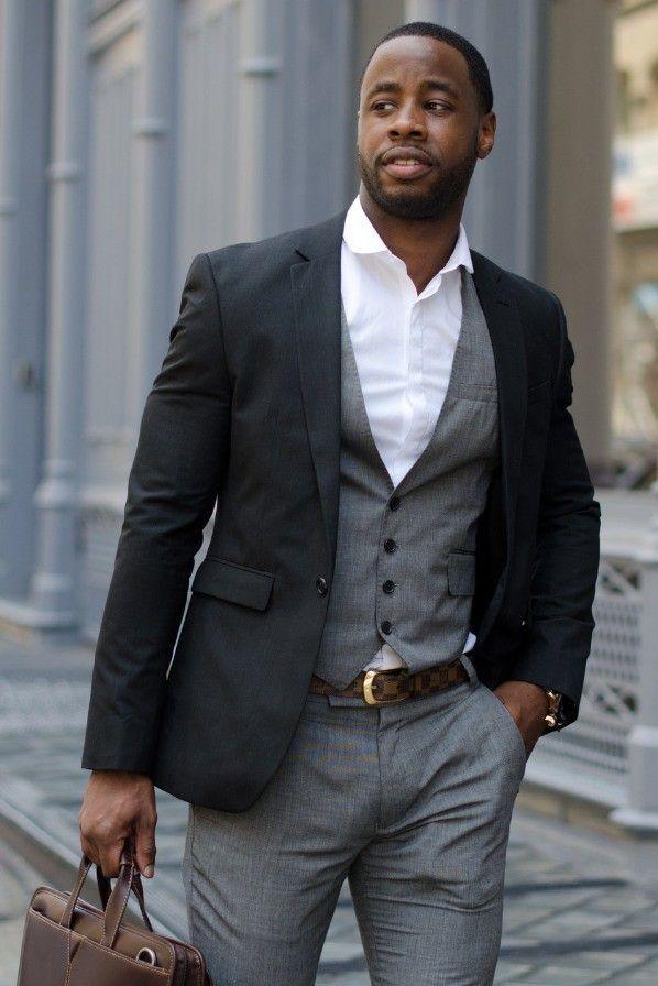 black men suits business