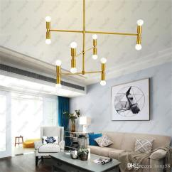 Led Ceiling Light Living Room Eames Chair New Modern Pendant Lighting Chandelier Lights Restaurant Branches Hanging Lamp With 12 Fixture Flush Mount Brass