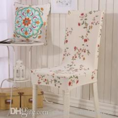 Quality Dining Room Chair Covers Pedicure Accessories Elastic Cover For Computer Kitchen Office Colorful Printed Spandex Seat Wedding White