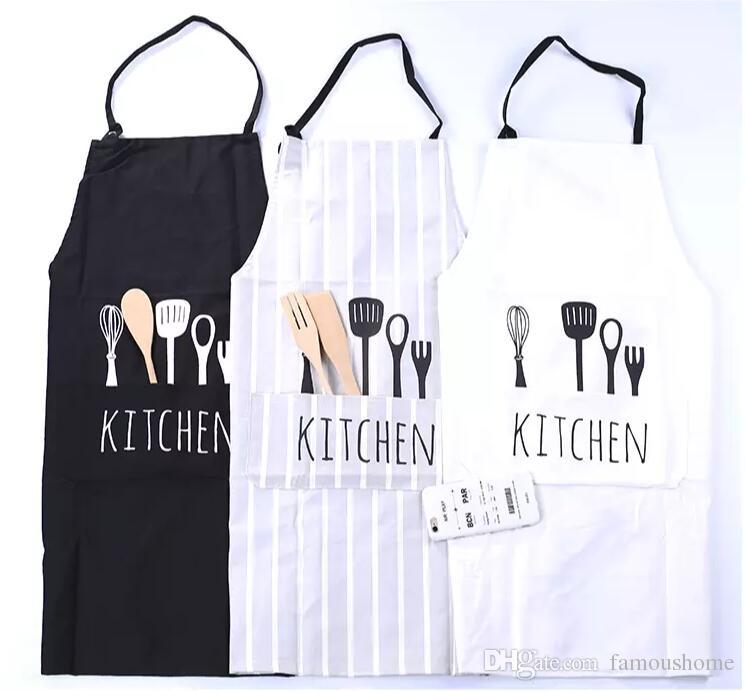 kitchen aprons small ideas pictures new 100 poly cotton printed unisex cooking restaurant with pocket holder simple adult coverall print