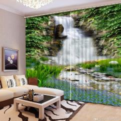 Living Room Waterfall Furniture Small Images Interior Decorating 2019 For Scenery Blackout Window Curtain Bedroom Home Decoration From Yiwu2017 200 0 Dhgate Com