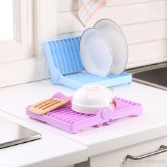 Kitchen Drying Rack Aid Accessories 2019 Foldable Dish Stand Holder Bowl Plate Organizer Tray Tableware Storage Drainer Drip Shelf Tools Lz1042 From Sunnytech