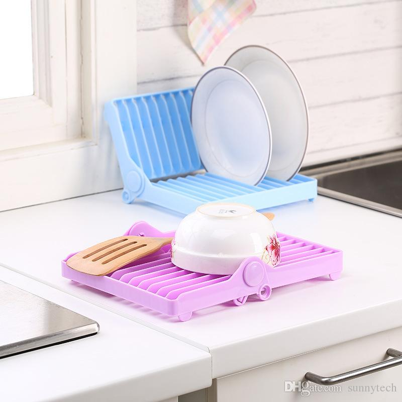 kitchen drying rack how to build an outdoor 2019 foldable dish stand holder bowl plate organizer tray tableware storage drainer drip shelf tools lz1042 from sunnytech