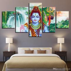 Wall Painting For Living Room India Amazing Escape Walkthrough 2019 Canvas Paintings Decor Art God Shiva Poster Hd Prints Abstract Waterfall Scenery Pictures Framed From Weichenart