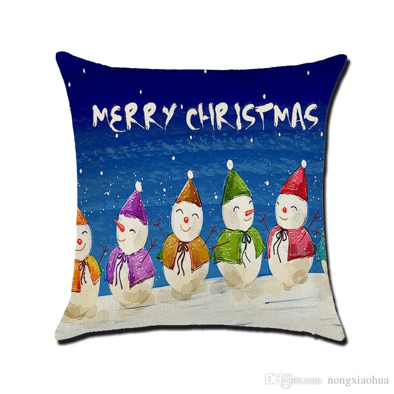 christmas chair covers the range dallas cowboys chairs father printed with pillowcase cotton and linen cushion cover use for sofa car decorative home furnishing seat cushions patio