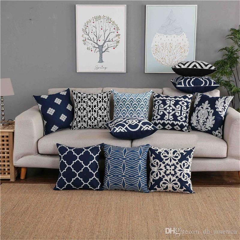 large square sofa cushions laura ashley abingdon reviews bohemian style cotton pillowcase fashion jacquard cushion covers decorative pillow high quality home cover without core discount patio
