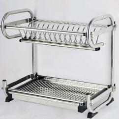Metal Kitchen Rack Crosley Steel Cabinets 304 Stainless Dish Shelf Storage 1