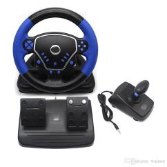 Steering Wheel Pc White Rodgers Thermostat Wiring Diagram 1f78 3 In 1 Gaming Vibration Racing 25cm With Pedals Knob X Handle