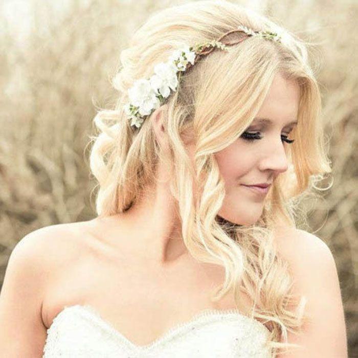 summer wedding floral crown