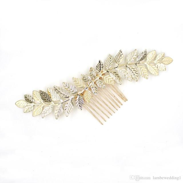 new arrival 2018 glinting leaves combs for wedding wavy bridal headpieces hair adornments tiara handmade leaf charms bridal accessories
