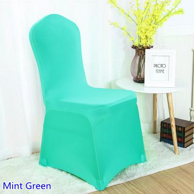 green banquet chair covers velvet armchair australia spandex cover mint colour flat front lycra stretch for wedding decoration wholesale on sale dining room seat