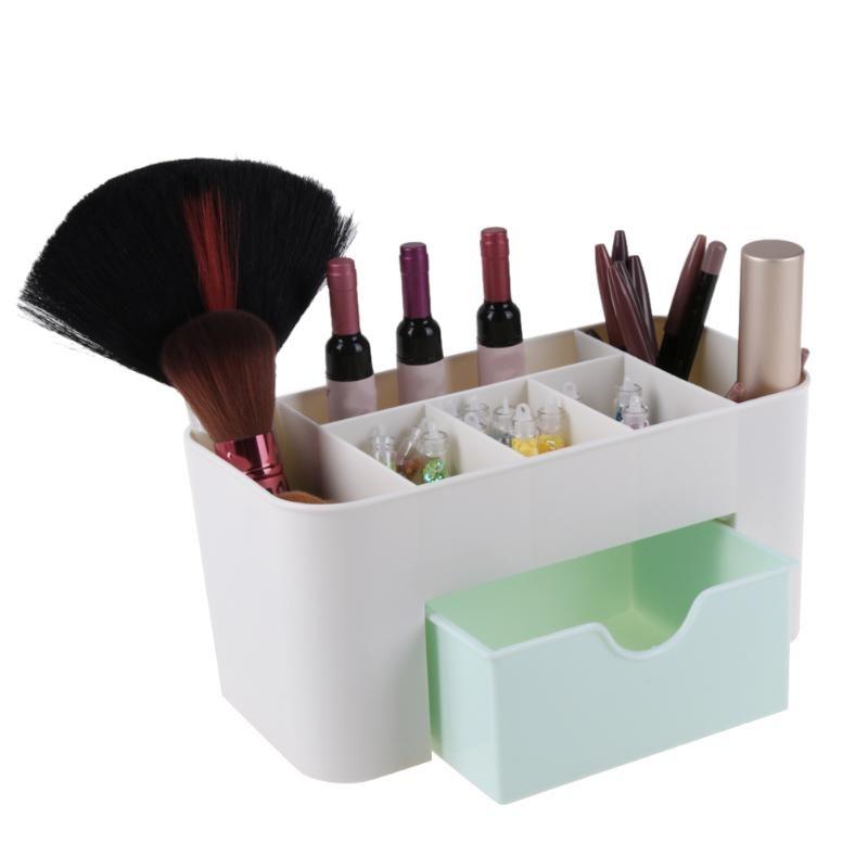 Creative Desktop 6 Grid Storage Box Pp Diy Makeup Organizer Cosmetics Case With Drawer 22x10 5x10 5cm High Quality Boxe