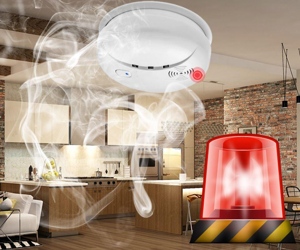 kitchen smoke detector do it yourself remodel daytech sensor fire alarm home security battery operate alert