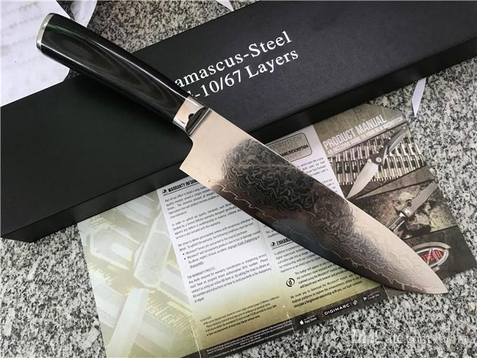 kitchen knives for sale lowes sinks hot fixed blade damascus knife vg10 steel micarta handle tools with retail box pack survival sheath camping