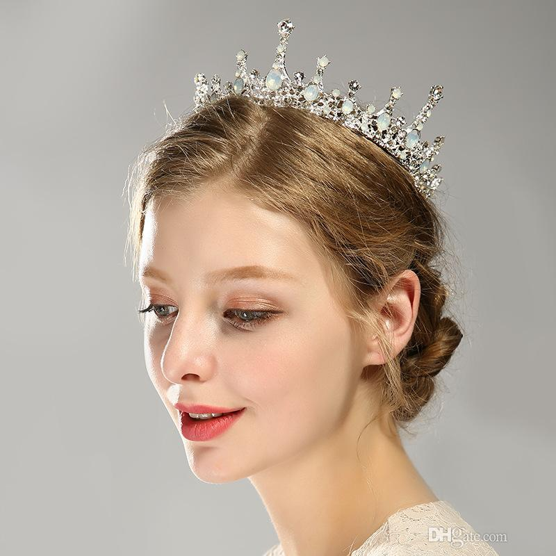 hot sale design crystal crown bride wedding crown jewelry hair accessories tiara alloy rhinestone elegant prom wedding vintage hair accessories where to buy