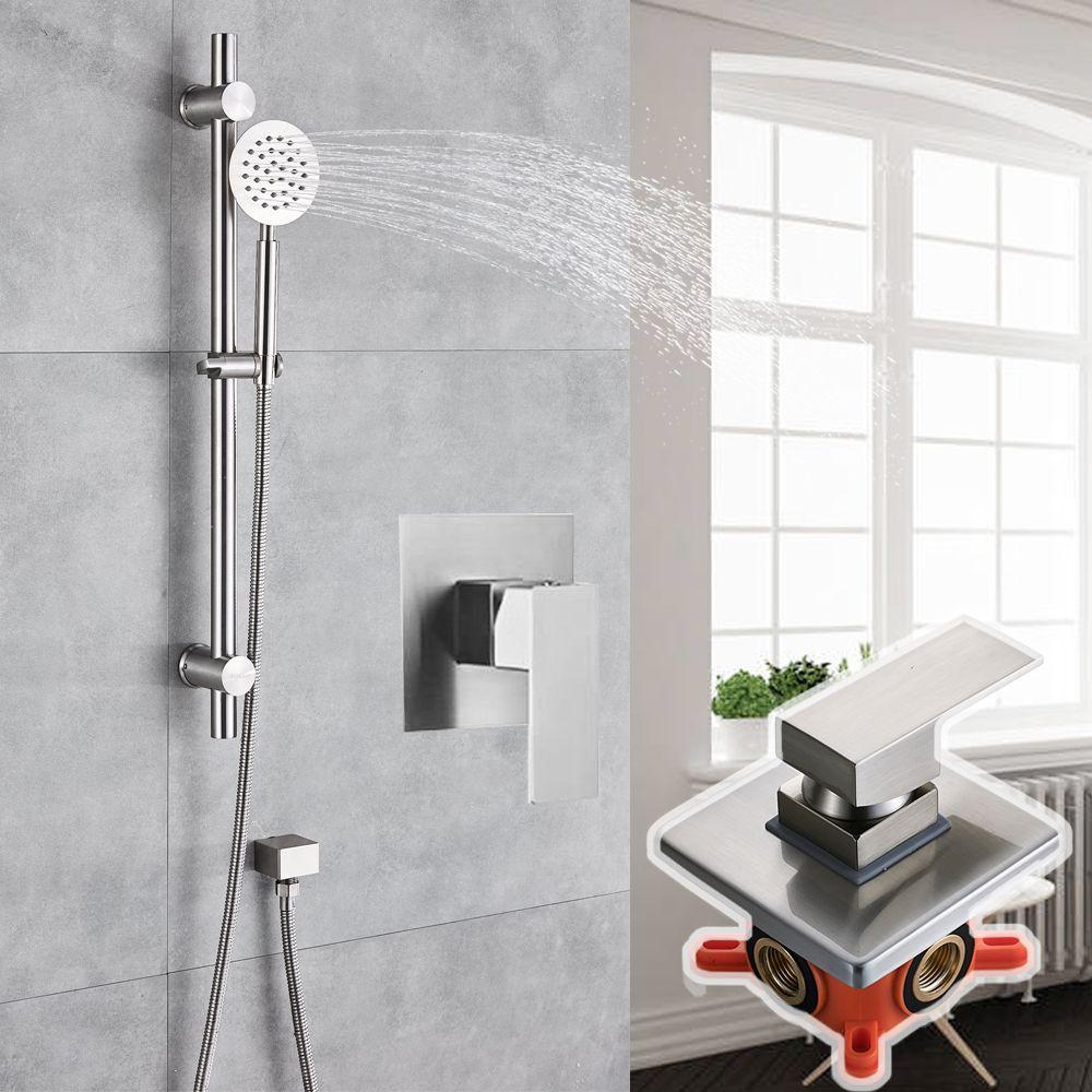 duscharmatur h he duscharmatur mailand einhebel mischbatterie wasserhahn dusche. Black Bedroom Furniture Sets. Home Design Ideas