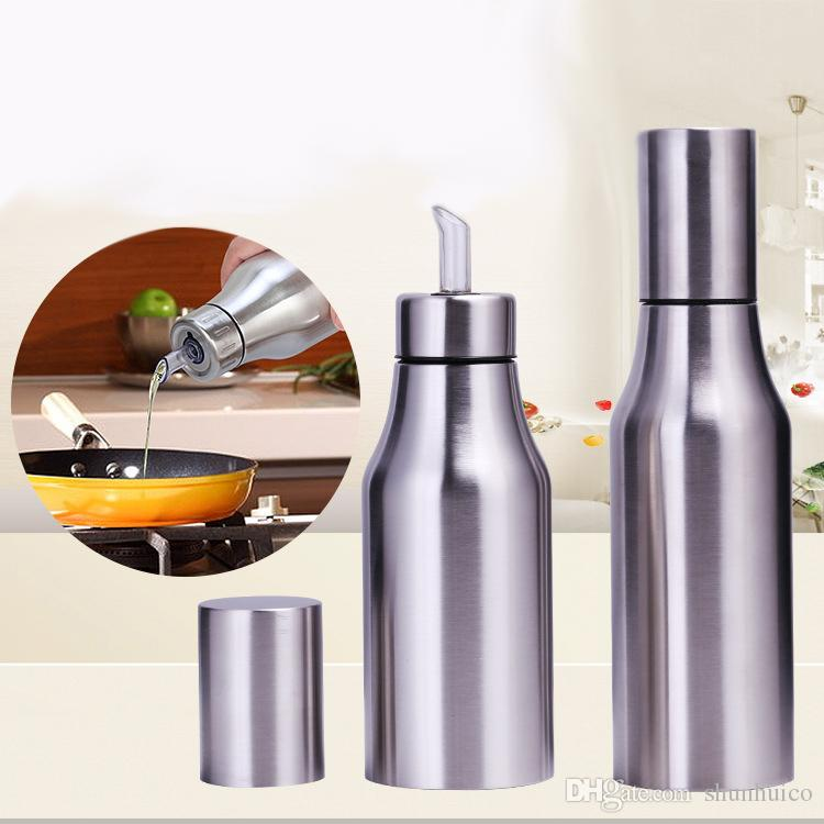 kitchen supplies online cabinets styles oil bottle multi function leakproof controllable 304 stainless steel pot 500ml