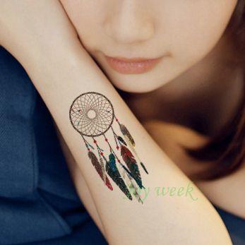 Impermeable Tatuaje Temporal Etiqueta Arte Corporal Atrapasueños