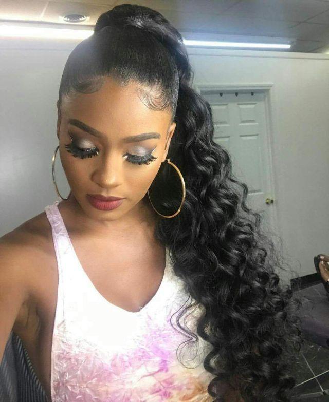 hot selling human hair ponytail virgin brazilian hair long wavy drawstring ponytail extensinons 8a grade free shipping 24inch #1b 140g