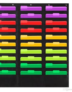 Wall file pocket folder organizer with plus hangers hooks the perfect chart for classroom school office or home use from also rh dhgate