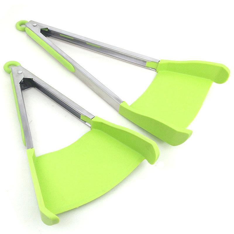 kitchen spatula home depot outdoor 2019 clever tong 2 in 1 tongs non stick packing opp bag if you want color box please contact us