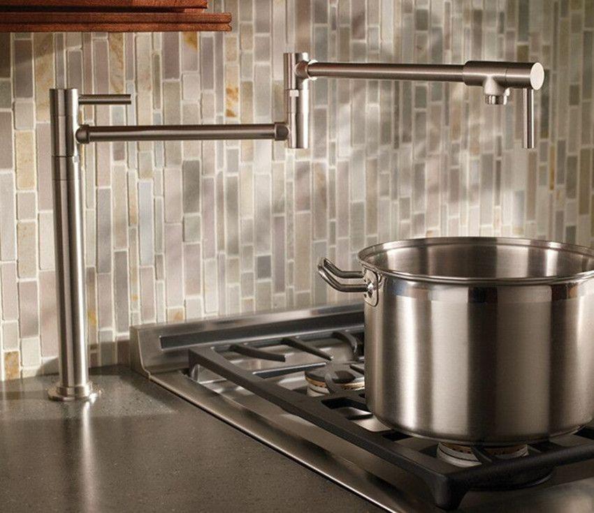 black faucet kitchen corner top cabinet brass chrome brushed nickel pot filler deck mounted universal telescopic sink single cold tap