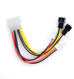 pc fan wiring red black white 4x 2p to 4 pins male ide pc fan [ 1001 x 1001 Pixel ]