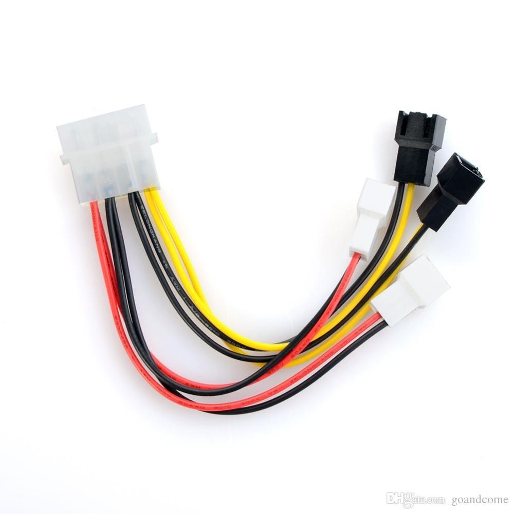 medium resolution of pc fan wiring red black white 4x 2p to 4 pins male ide pc fan