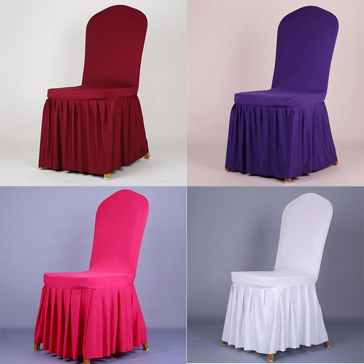 party chair covers canada recliner chairs for kids wedding solid color stretch spandex pleated banquet seat hotel restaurant protector slipcover 2019 from ldd2016