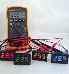 2 wire mini led digital display voltmeter dc 2 5 30v battery tester led amp digital volt meter gauge diagnostic tools aaa291 computer tools and equipment  [ 1000 x 1000 Pixel ]