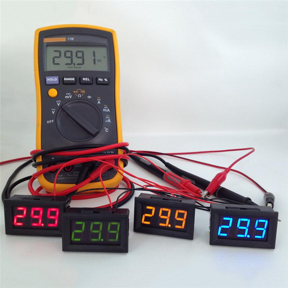 hight resolution of 2 wire mini led digital display voltmeter dc 2 5 30v battery tester led amp digital volt meter gauge diagnostic tools aaa291 computer tools and equipment