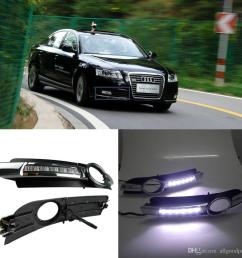 car fog drl led daytime running light for audi a6 a6l c6 2005 2006 2007 2008 cheap led driving lights colored daytime running lights from allgoodpart  [ 1024 x 1024 Pixel ]