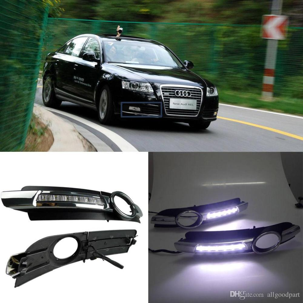 medium resolution of car fog drl led daytime running light for audi a6 a6l c6 2005 2006 2007 2008 cheap led driving lights colored daytime running lights from allgoodpart